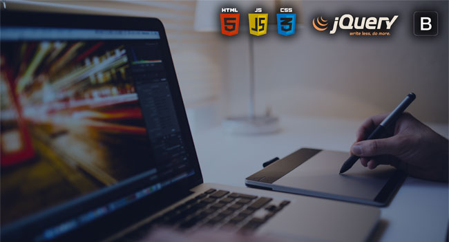 HTML, CSS, JS, Jquery, Bootstrap
